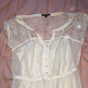 American Eagle white lace dress